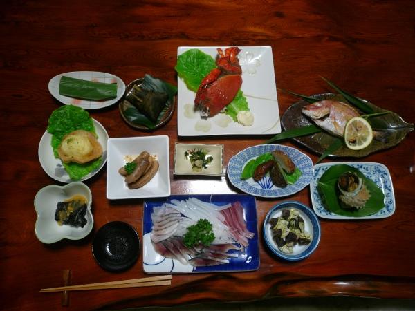 民宿ながた岳食事